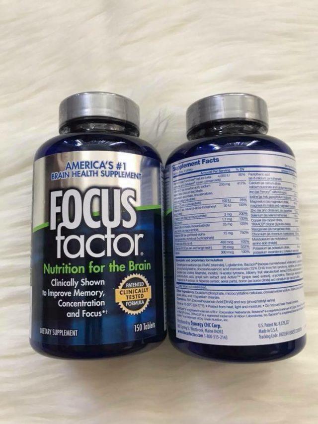 Cách sử dụng thuốc bổ não focus factor 150 viên từ chuyên gia 1