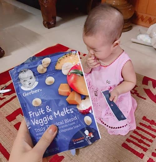 Sữa chua khô Gerber Fruit & Veggie Melts có tốt không-3