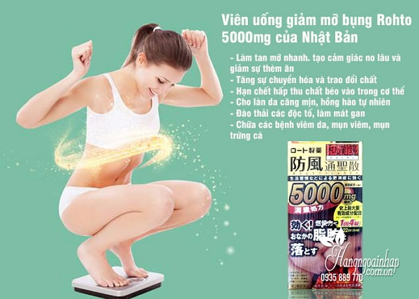 Thuốc giảm mỡ bụng Rohto 5000mg, hỗ trợ giảm cân hiệu quả 3