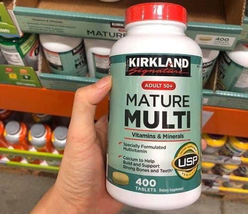 Review vitamin tổng hợp Kirkland Signature Mature Multi Adult 50+-2
