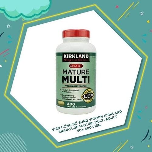 Review vitamin tổng hợp Kirkland Signature Mature Multi Adult 50+-3