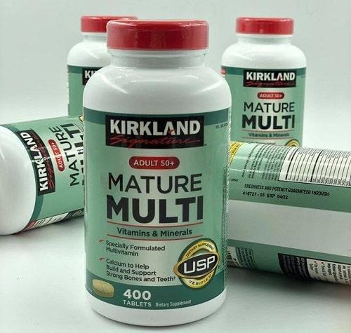 Review vitamin tổng hợp Kirkland Signature Mature Multi Adult 50+-4
