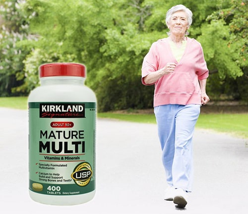 Review vitamin tổng hợp Kirkland Signature Mature Multi Adult 50+-5