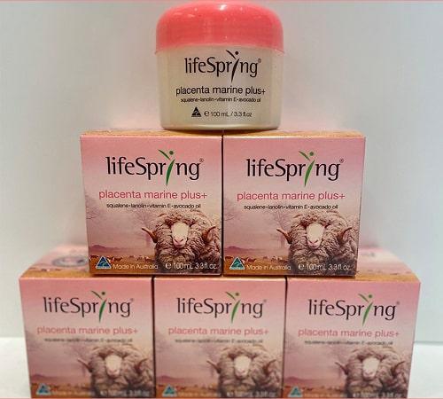 Tác dụng của kem nhau thai cừu Lifespring màu hồng là gì-1