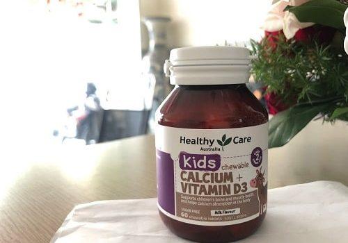 Viên nhai Calcium + Vitamin D3 Healthy Care có tốt không-1