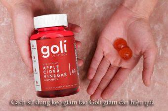Cách sử dụng kẹo giấm táo Goli giảm cân hiệu quả-1