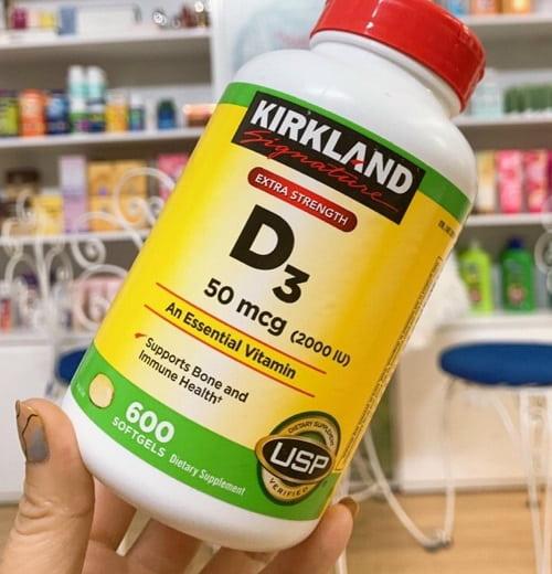 Viên uống Kirkland D3 50mcg 2000IU giá bao nhiêu?-2